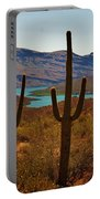 Saguaros In Arizona Portable Battery Charger
