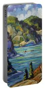 Saguenay Fjord By Prankearts Portable Battery Charger
