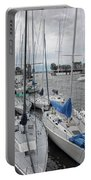 Sail Boats Docked For The Night Portable Battery Charger