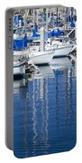 Sail Boats Docked In Marina Portable Battery Charger