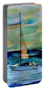 Sailboat And Abstract Portable Battery Charger