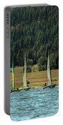 Sailboat Regatta Cascade Lake Portable Battery Charger