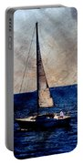 Sailboat Slow W Metal Portable Battery Charger