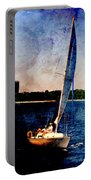 Sailboat Tilted Towers W Metal Portable Battery Charger