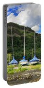 Sailboats At Glenridding In The Lake District Portable Battery Charger