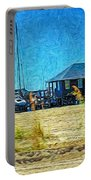 Sailboats Boat Harbor - Quiet Day At The Harbor Portable Battery Charger
