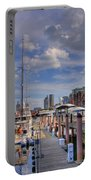 Sailboats In Constitution Marina - Boston Portable Battery Charger by Joann Vitali