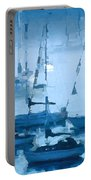 Sailboats In The Fog II Portable Battery Charger