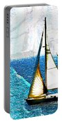 Sailboats In The Harbor Portable Battery Charger