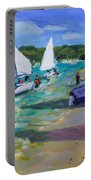 Sailing Boats Portable Battery Charger by Andrew Macara