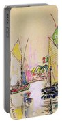 Sailing Boats At Les Sables D Olonne  Portable Battery Charger