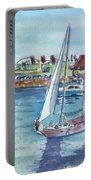 Sailing By Shoreline Village Portable Battery Charger