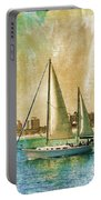 Sailing Dreams On A Summer Day Portable Battery Charger