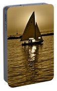 Sailing In Sepia Portable Battery Charger