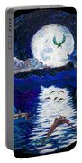 Sailing In The Moonlight Portable Battery Charger