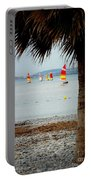 Sailing On A Cloudy Morning Portable Battery Charger by Lainie Wrightson