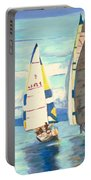 Sailing Regatta At Port Hardy Portable Battery Charger