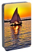Sailing Silhouette Portable Battery Charger
