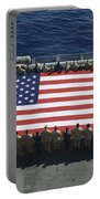 Sailors And Marines Display Portable Battery Charger by Stocktrek Images