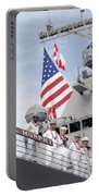 Sailors Man The Rails Aboard Uss Portable Battery Charger
