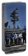 Sailors Participate In A Fight Deck Portable Battery Charger
