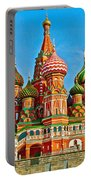 Saint Basil Cathedral In Red Square In Moscow- Russia Portable Battery Charger