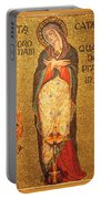 Saint Catherine Of Alexandria Altar Portable Battery Charger