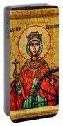 Saint Catherine Of Alexandria Icon Portable Battery Charger