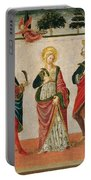 Saint Cecilia Between Saint Valerian And Saint Tiburtius With A Donor Portable Battery Charger