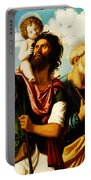 Saint Christopher With Saint Peter Portable Battery Charger