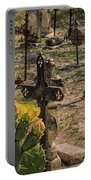 Saint Dominic Cemetery At Old D'hanis Texas Portable Battery Charger