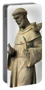 Saint Francis Of Assisi Statue With Birds Portable Battery Charger