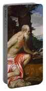 Saint Jerome In The Wilderness Portable Battery Charger