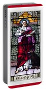 Saint John The Evangelist Stained Glass Window Portable Battery Charger