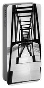 Saint Joseph Michigan Inner Lighthouse Catwalk Sunny Day Bw Portable Battery Charger