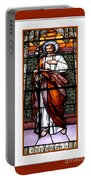 Saint Joseph  Stained Glass Window Portable Battery Charger