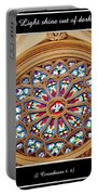 Saint Josephs Cathedral Stained Glass Window Buffalo New York Portable Battery Charger