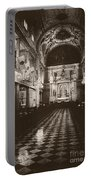 Saint Louis Cathedral New Orleans Black And White Portable Battery Charger