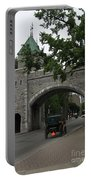 Saint Louis Gate In Ramparts Of Quebec City Portable Battery Charger