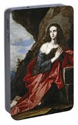Saint Mary Magdalene In The Desert Portable Battery Charger