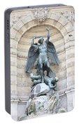 Saint Michael The Archangel In Paris Portable Battery Charger