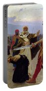 Saint Nicholas Of Myra Saves Three Innocents From Death Portable Battery Charger by Ilya Efimovich Repin