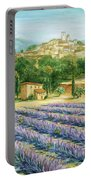 Saint Paul De Vence And Lavender Portable Battery Charger