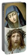 Saint Veronica Portable Battery Charger by Guido Reni