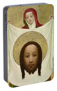 Saint Veronica With The Sudarium Portable Battery Charger