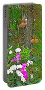 Sala Tree And Orchids At Buddhist University In Chiang Mai-thail Portable Battery Charger