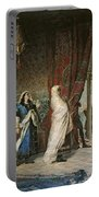 Salida Del Boabdil, At The Alhambra Oil On Canvas Portable Battery Charger