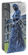 Salisbury Cathedral And The Walking Madonna 2 Portable Battery Charger