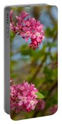 Salmon Berry Flowers Portable Battery Charger
