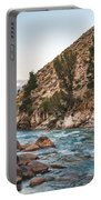 Salmon River In The Twilight Portable Battery Charger